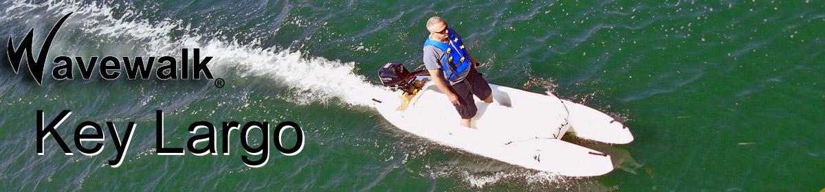 Wavewalk fishing in kayaks, boats and microskiff in Key Largo, Florida